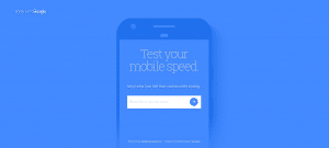 Google test your mobile download speed